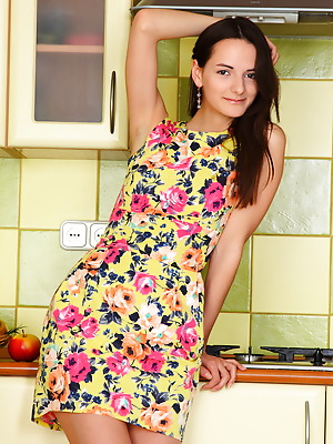 Showy Beauty  Anna  Pussy, Brunettes, Legs, Kitchen, Skinny
